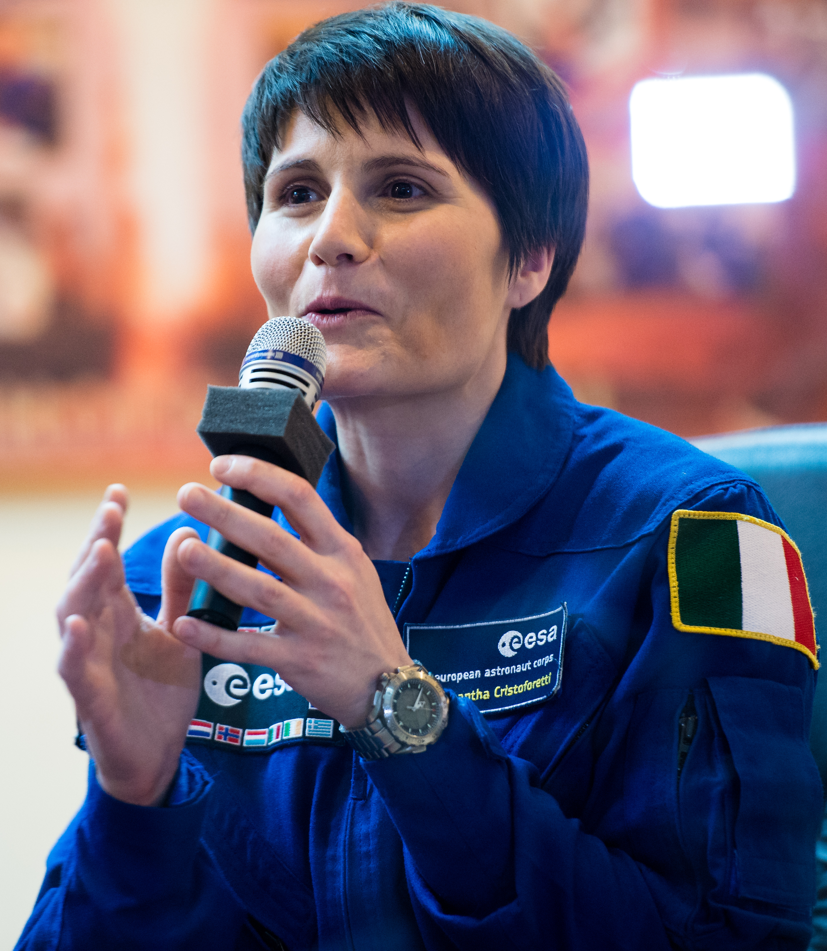 First Italian Woman In Space What She Use As Watch