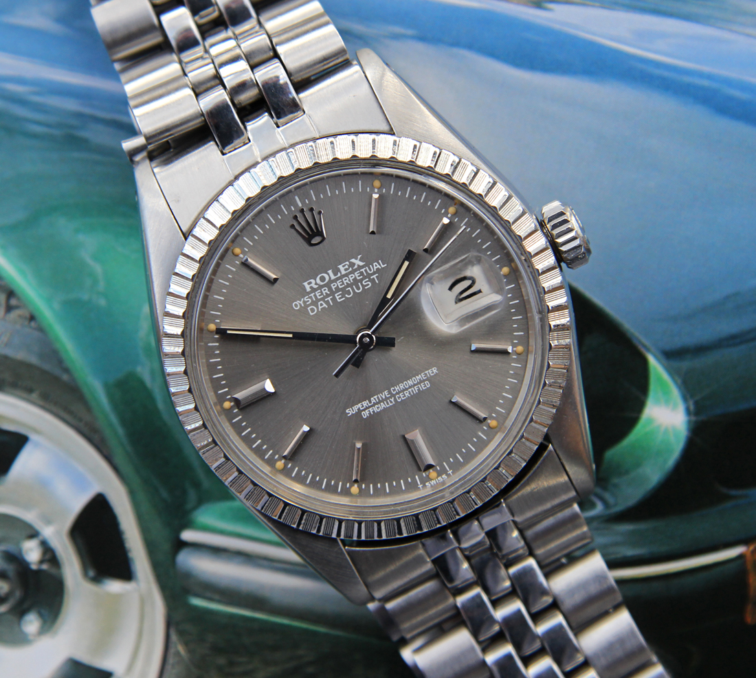 0e1500348fa4 SOLD - Vintage Rolex ref. 16030 SS Datejust w  Rare Silver Gray Dial ...