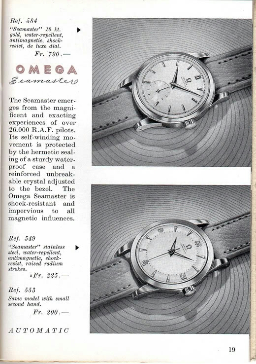 Early Seamasters. | Omega Forums
