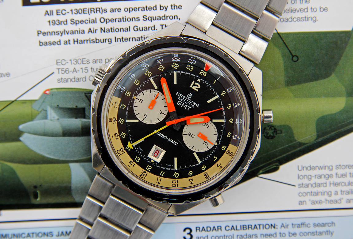 a1513bca5 JPG Breitling2115GMT-18 copy.JPG Up for sale is this scarce and original  early 1970s Breitling reference 2115 Chrono-Matic ...