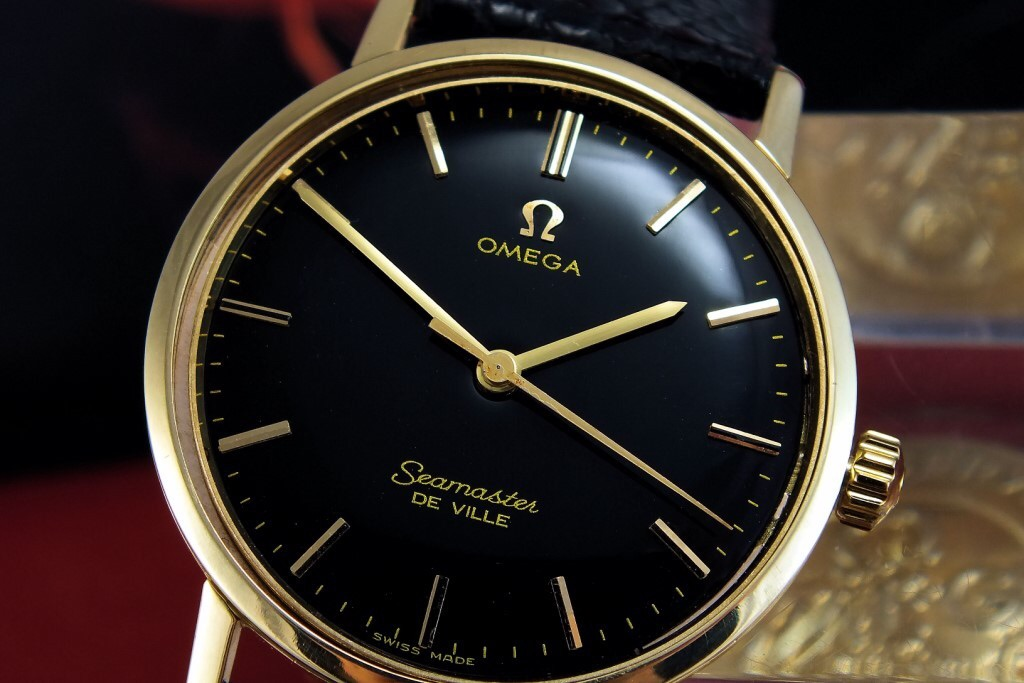 Omega Seamaster Black And Gold