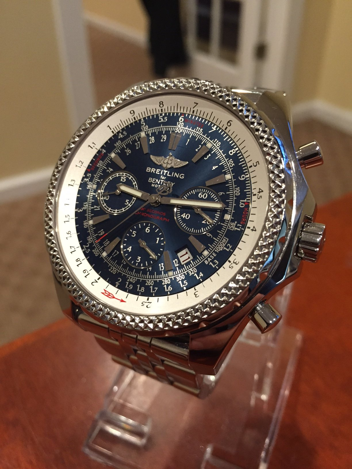 edition topnotch blue gorgeous dial bentley watch breitling special