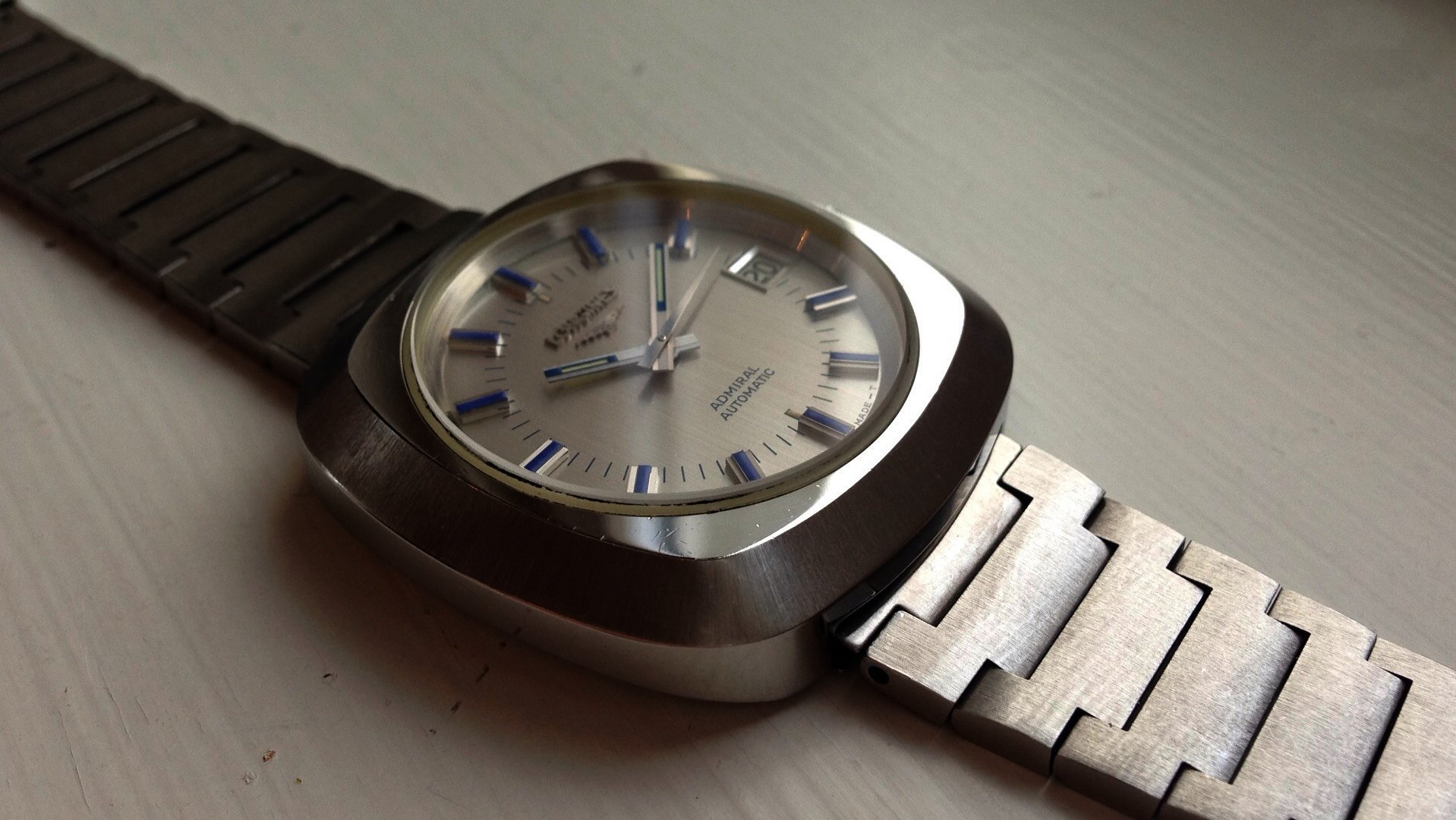 SOLD - Longines Admiral Automatic – Large (40mm) case with Blue ... 8e1f562bf6f