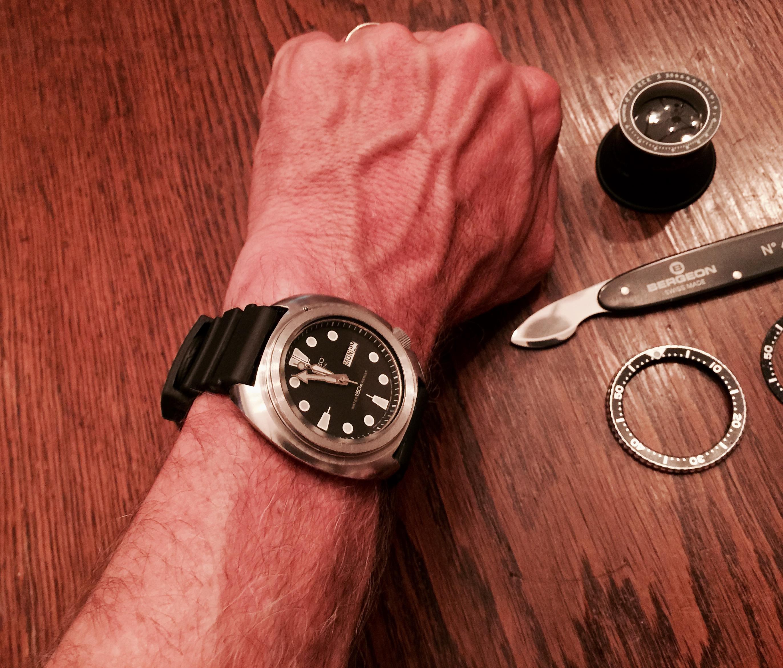 Question regarding how to remove a Seiko diver bezel and