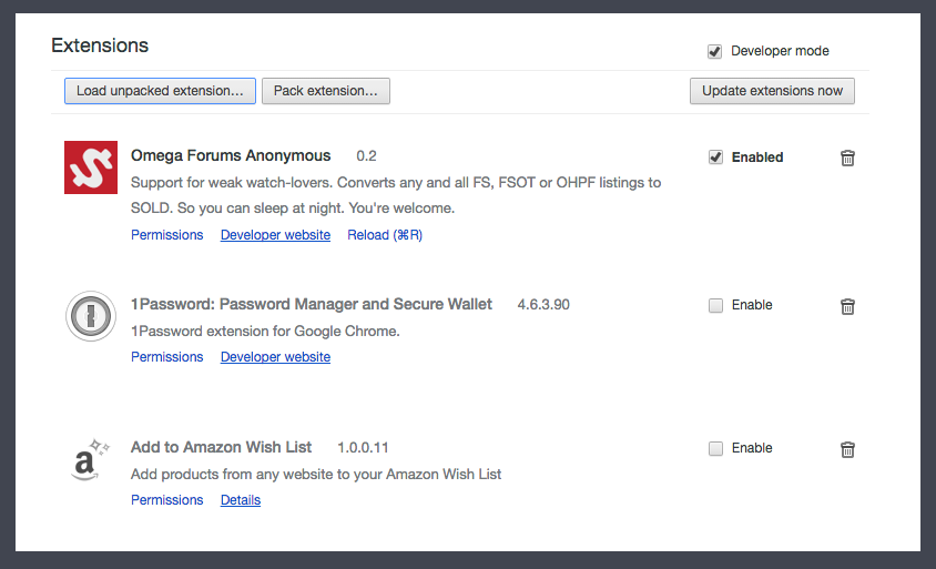 OFA  Support for Weak Watch-lovers (Chrome Extension) | Omega Forums