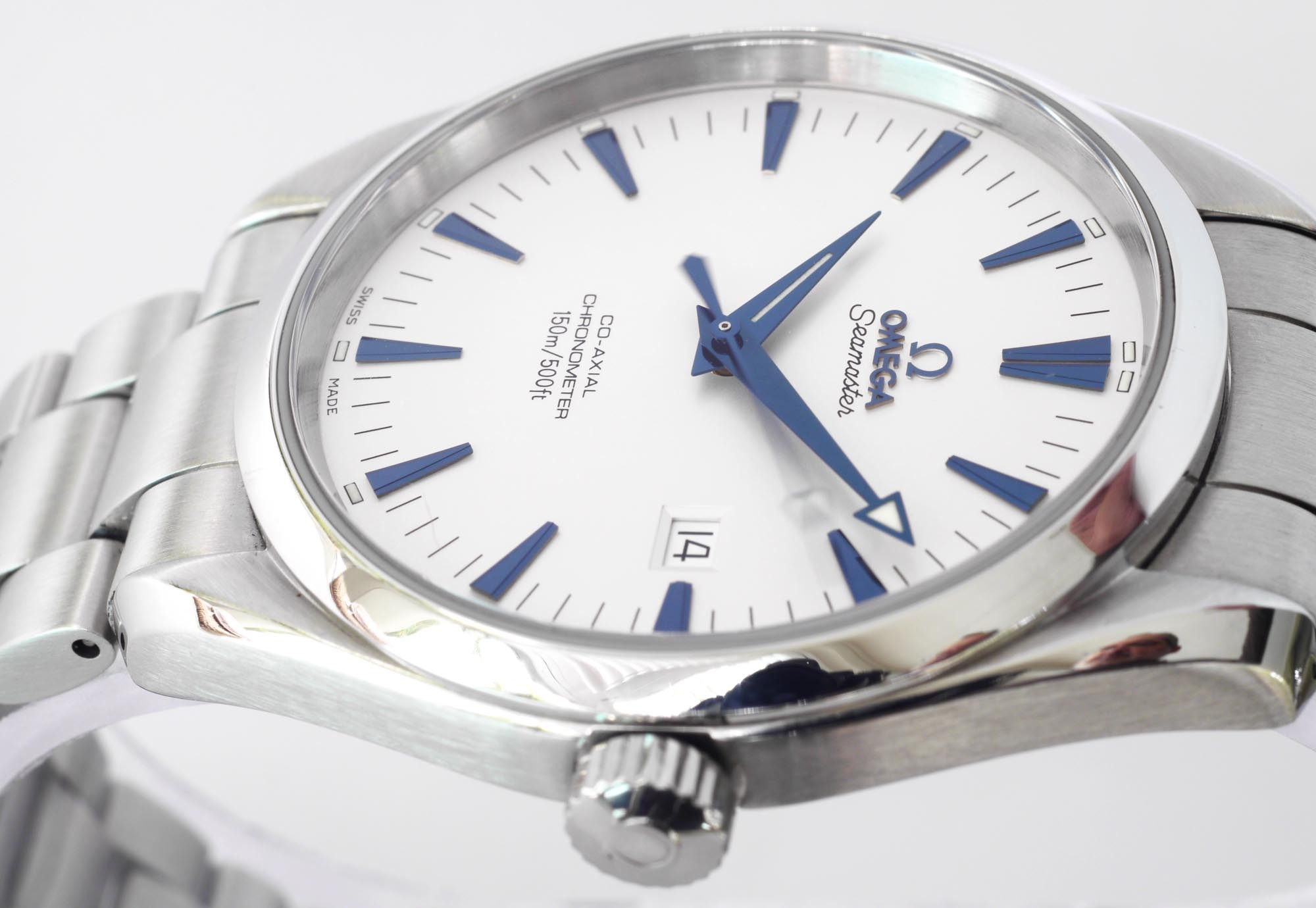 Omega Seamaster Aqua Terra Blue Hands
