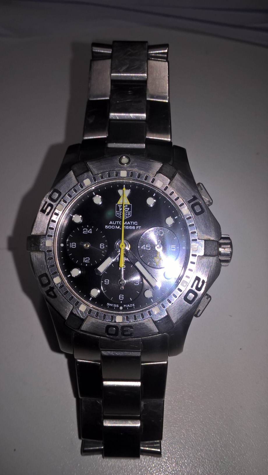 TAG Heuer genuine crown and tube for TAG Heuer Aquaracer CAF101A etc.