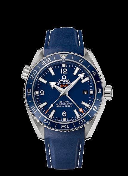 Sold Omega Seamaster Planet Ocean 21mm Blue Rubber Strap
