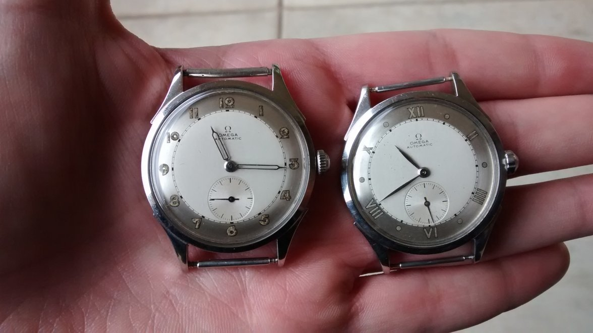 bumpers threads larger sold vintage version omega watches early