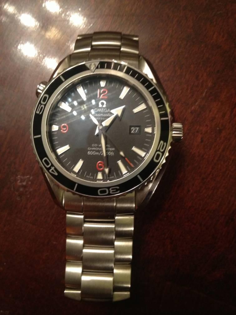 sold omega seamaster planet ocean xl 2500 d 2200 51 00 45 5mm