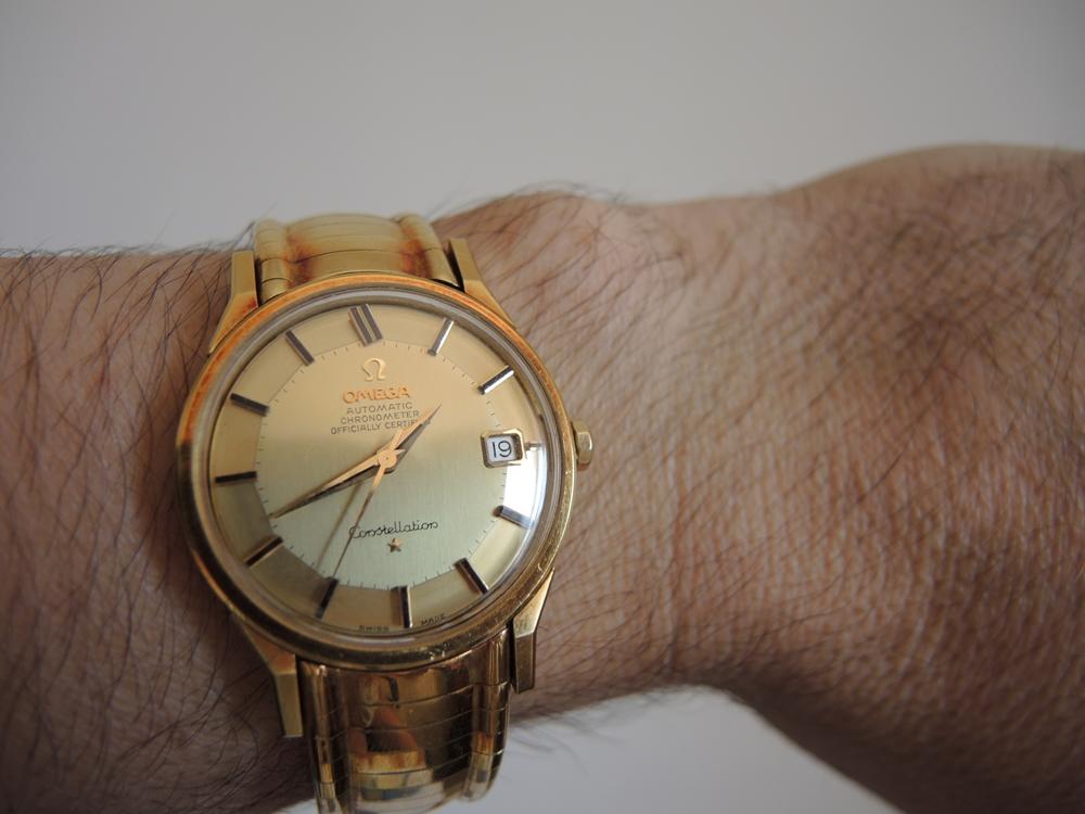 vintage omega constellation 18k gold
