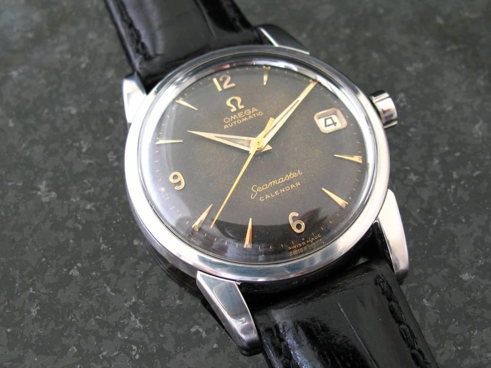 Omega Seamaster Calendar Vintage : Sold black dial seamaster calendar cal ref