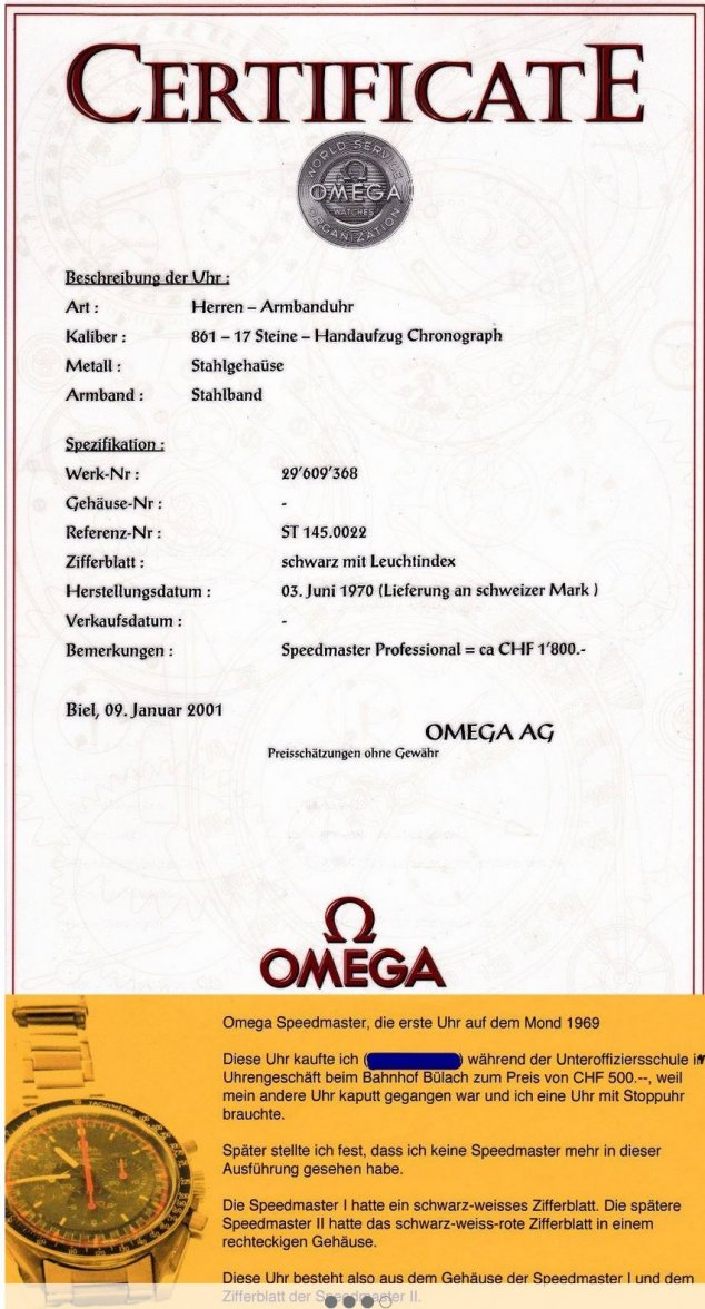How to date an Omega timer by serial numbers and any