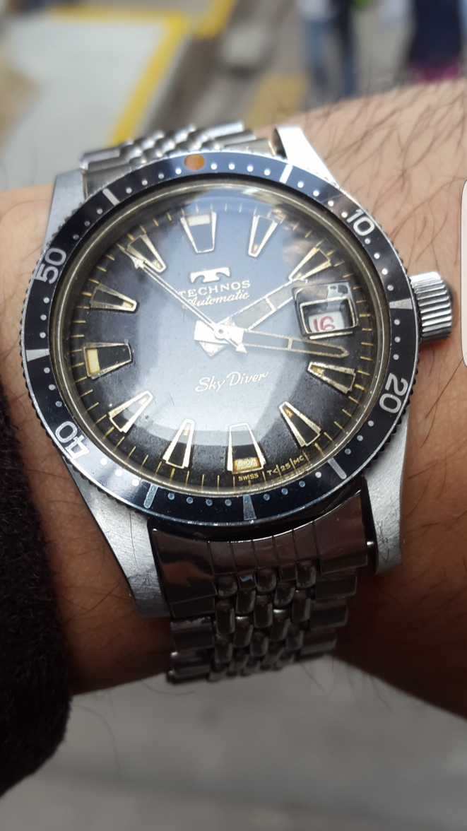 Us withdrawn technos skydiver vintage diver singapore watch mall rolex singapore rolex for Technos watches