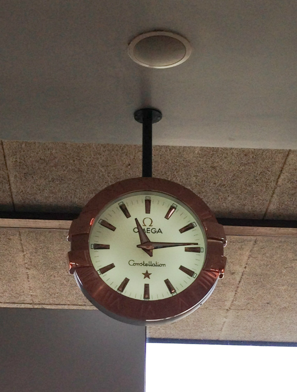 omega constellation wall clock performance board group
