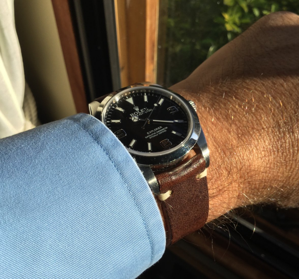 39mm Explorer on a leather strap?