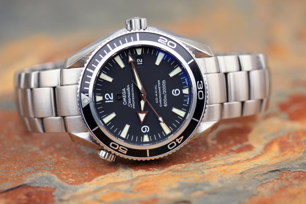 sold omega planet ocean 42mm 2500 movement 2201 50 00 black box