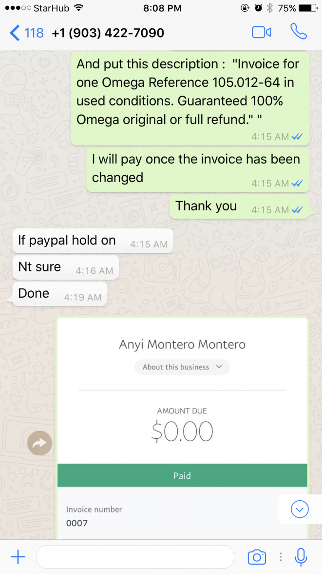 Definition Of Receipts Excel Omega Speedmaster  Scammer Alert On Chrono Trader Avoid  Design Your Own Invoice Book Pdf with Po Number On Invoice Pdf Img Invoice Format In Excel Download Pdf