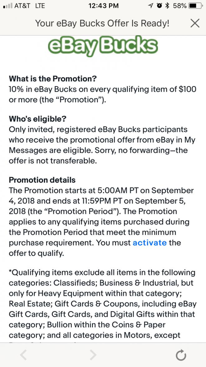 Ebay Bucks Bonus Page 2 Omega Forums