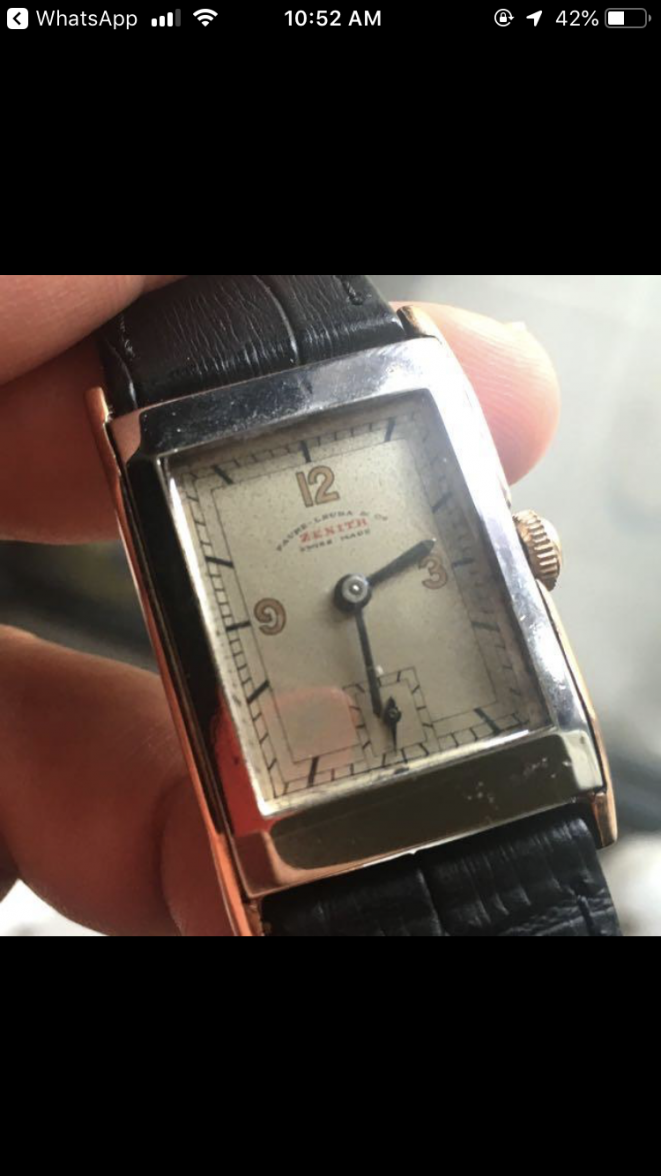 Vintage zenith tank style watch signed with Favre Leuba | Omega Forums