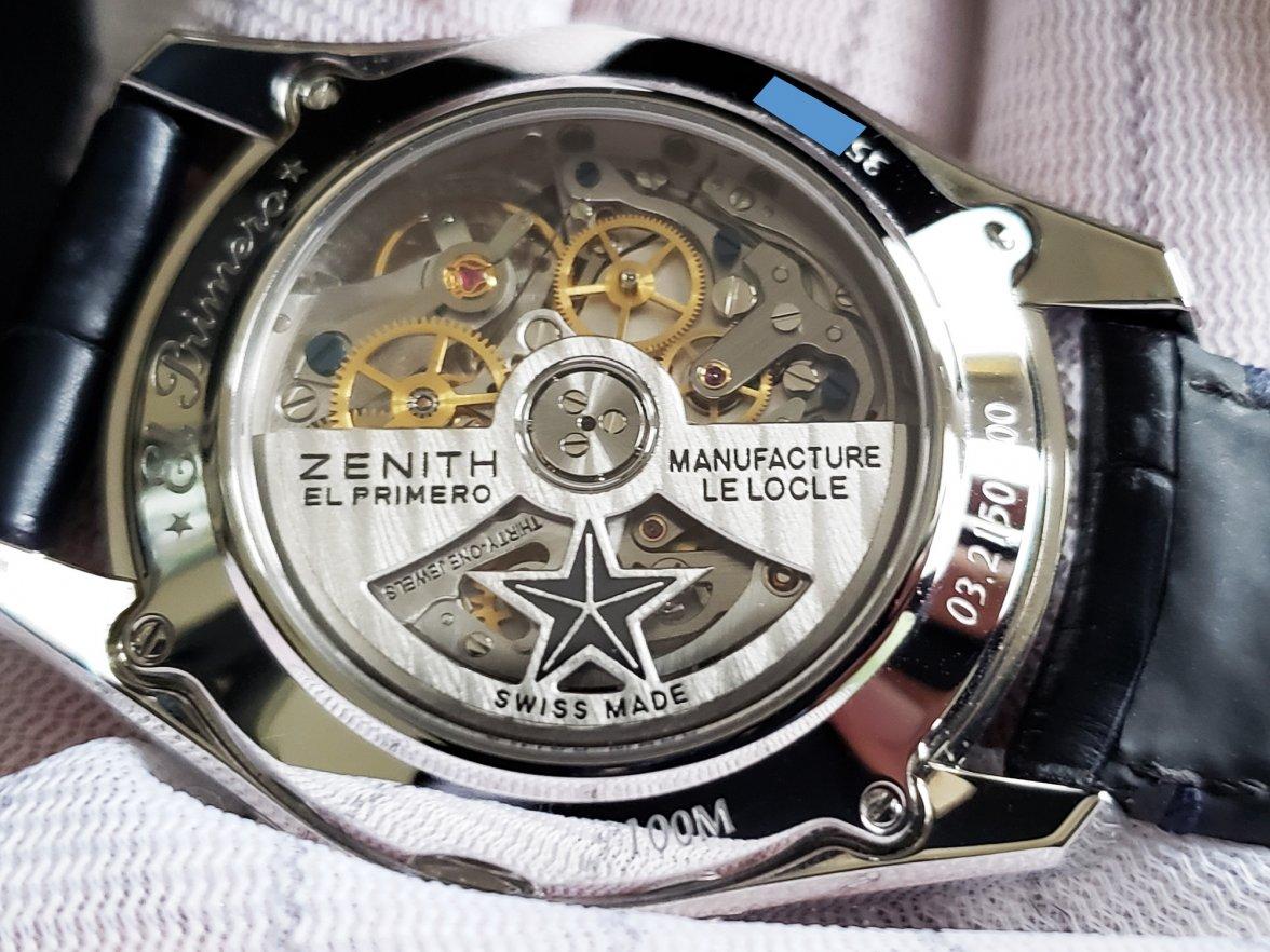 SOLD - 38mm ZENITH El Primero Chronomaster BLUE Chronograph Original