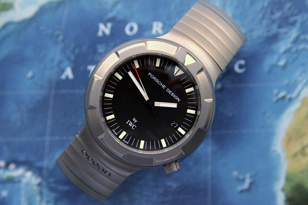 Ohpf rare vintage iwc porsche design ocean 2000 titanium - Oceanic dive watch ...